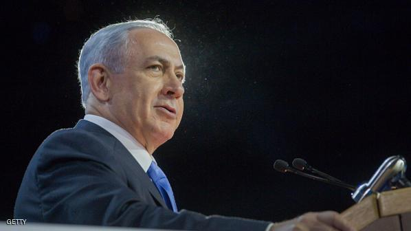 Benjamin Netanyahu, Israel's prime minister, speaks during the American Israel Public Affairs Committee (AIPAC) policy conference at the Washington Convention Center in Washington, D.C., U.S., on Monday, March 2, 2015. Netanyahu's plans to lash out at the emerging U.S.-led nuclear deal with Iran in Congress this week will generate nearly as much anger among his opponents at home as at the White House. Photographer: Andrew Harrer/Bloomberg via Getty Images