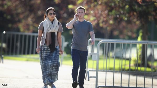 SUN VALLEY, ID - JULY 10: Mark Zuckerberg, chief executive officer and founder of Facebook Inc., and his wife Priscilla Chan attend the Allen & Company Sun Valley Conference on July 10, 2014 in Sun Valley, Idaho. Many of the world's wealthiest and most powerful businessmen from media, finance, and technology attend the annual week-long conference which is in its 32nd year.  (Photo by Scott Olson/Getty Images)